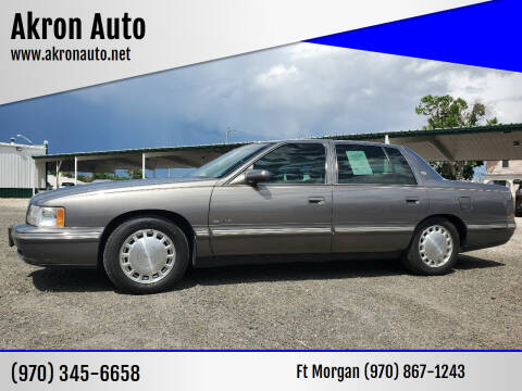 1999 Cadillac DeVille for sale at Akron Auto in Akron CO
