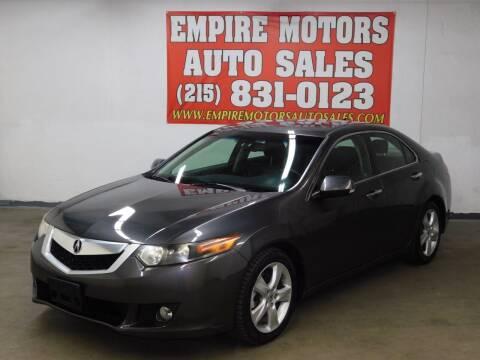 2009 Acura TSX for sale at EMPIRE MOTORS AUTO SALES in Philadelphia PA