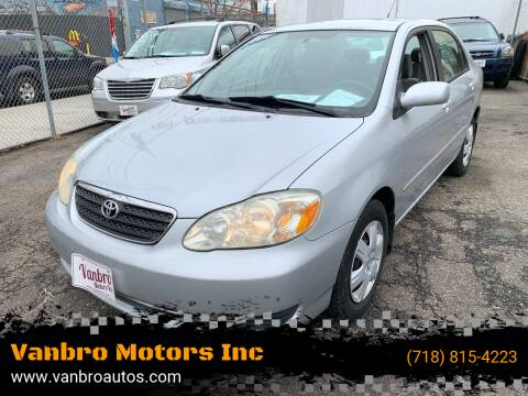 2005 Toyota Corolla for sale at Vanbro Motors Inc in Staten Island NY