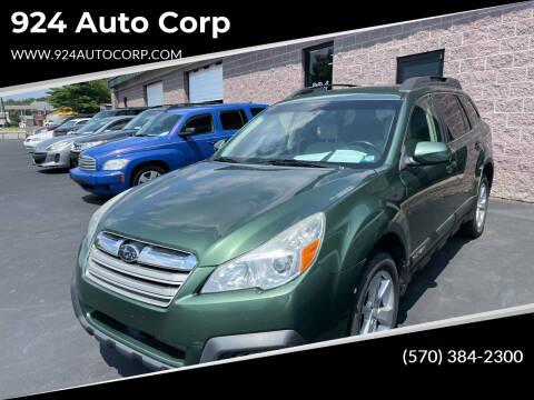 2013 Subaru Outback for sale at 924 Auto Corp in Sheppton PA