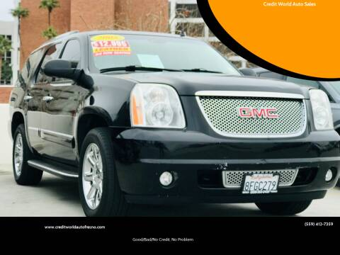 2008 GMC Yukon for sale at Credit World Auto Sales in Fresno CA