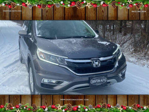 2015 Honda CR-V for sale at Denton Auto Inc in Craftsbury VT