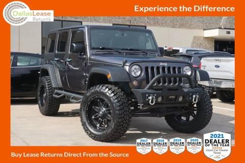 2018 Jeep Wrangler JK Unlimited for sale at Dallas Auto Finance in Dallas TX