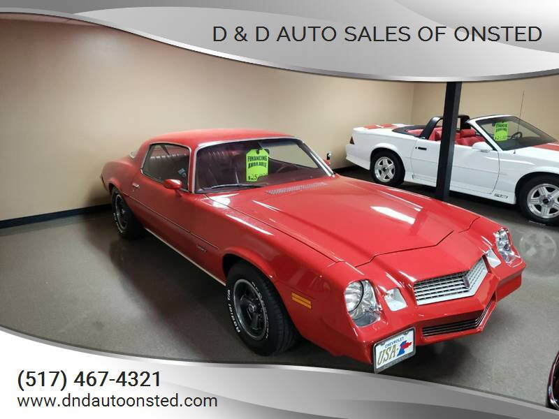 1980 Chevrolet Camaro for sale at D & D Auto Sales Of Onsted in Onsted   Brooklyn MI