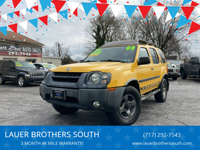 2003 Nissan Xterra for sale at LAUER BROTHERS SOUTH in York PA
