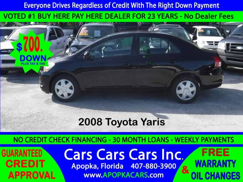 2008 Toyota Yaris for sale at CARS CARS CARS INC in Apopka FL