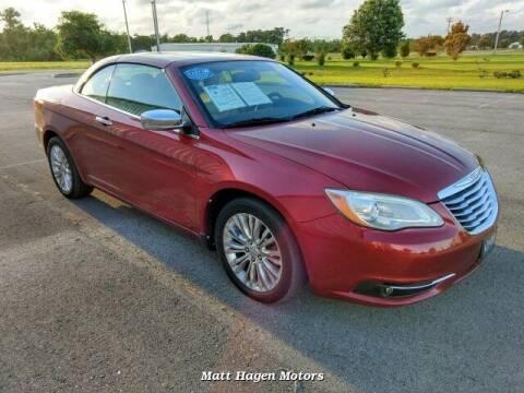 2011 Chrysler 200 Convertible for sale at Matt Hagen Motors in Newport NC