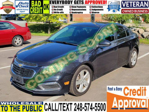 2015 Chevrolet Cruze for sale at North Oakland Motors in Waterford MI