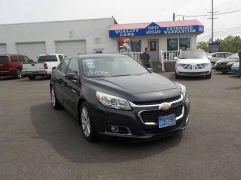 2014 Chevrolet Malibu for sale at United Auto Land in Woodbury NJ
