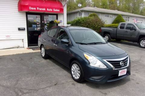 2017 Nissan Versa for sale at Dave Franek Automotive in Wantage NJ