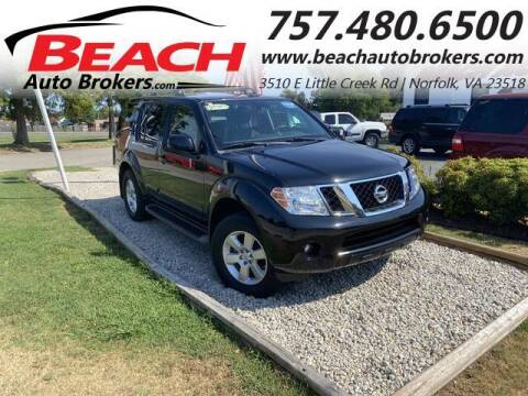 2012 Nissan Pathfinder for sale at Beach Auto Brokers in Norfolk VA