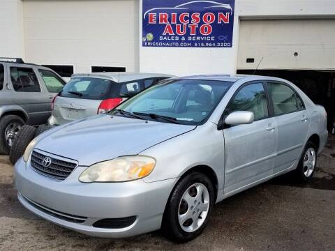 2007 Toyota Corolla for sale at Ericson Auto in Ankeny IA