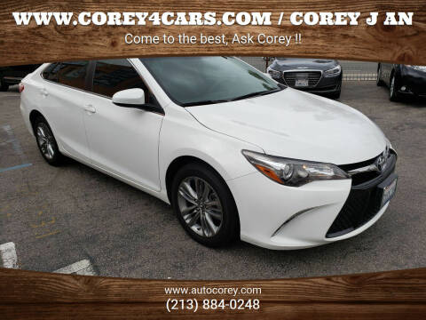 2017 Toyota Camry for sale at WWW.COREY4CARS.COM / COREY J AN in Los Angeles CA