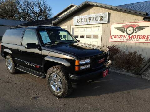 1996 GMC Yukon for sale at CRUZ'N MOTORS - Classics in Spirit Lake IA