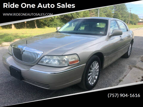 2004 Lincoln Town Car for sale at Ride One Auto Sales in Norfolk VA