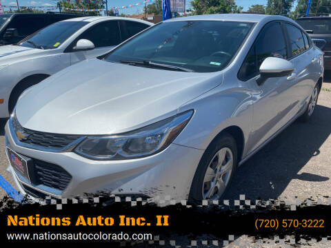 2016 Chevrolet Cruze for sale at Nations Auto Inc. II in Denver CO