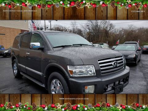 2005 Infiniti QX56 for sale at Auto Outlet Sales and Rentals in Norfolk VA
