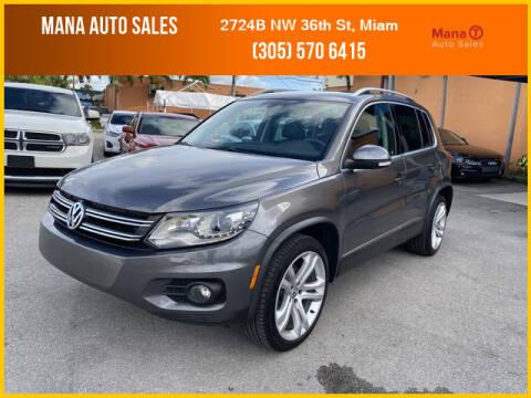 2012 Volkswagen Tiguan for sale at MANA AUTO SALES in Miami FL