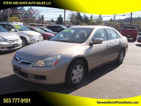 2007 Honda Accord for sale at Steve & Sons Auto Sales in Happy Valley OR