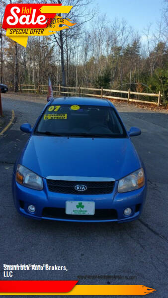 2007 Kia Spectra for sale at Shamrock Auto Brokers, LLC in Belmont NH
