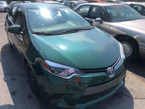 2015 Toyota Corolla for sale at Matt-N-Az Auto Sales in Allentown PA