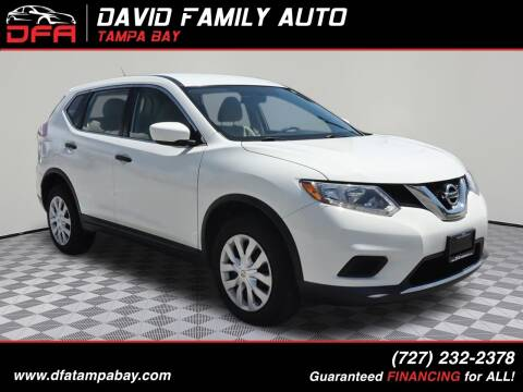 2016 Nissan Rogue for sale at David Family Auto, Inc. in New Port Richey FL