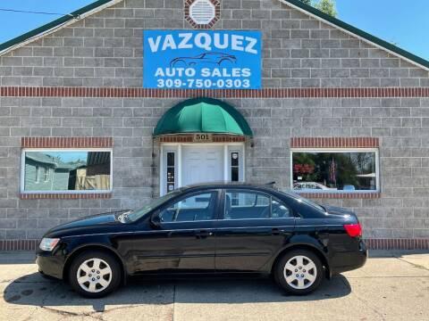 2009 Hyundai Sonata for sale at VAZQUEZ AUTO SALES in Bloomington IL