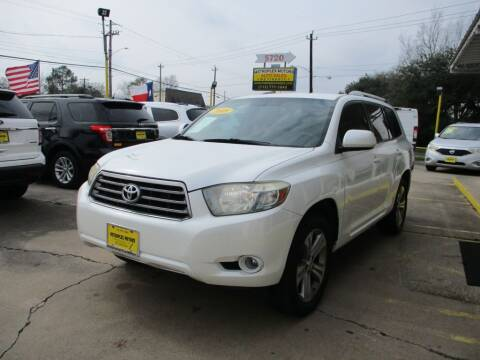 2008 Toyota Highlander for sale at Metroplex Motors Inc. in Houston TX