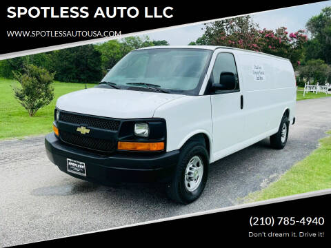 2012 Chevrolet Express Cargo for sale at SPOTLESS AUTO LLC in San Antonio TX