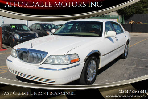 2010 Lincoln Town Car for sale at AFFORDABLE MOTORS INC in Winston Salem NC