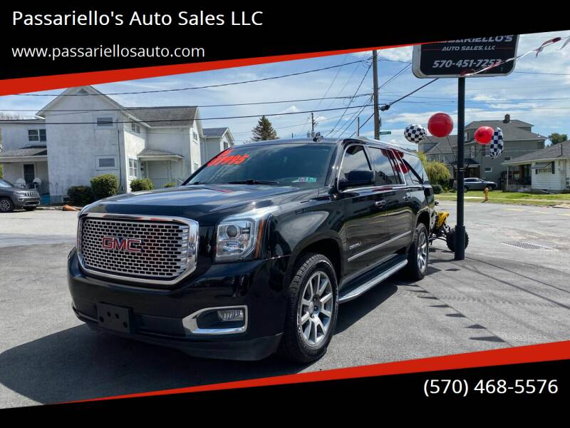 2016 GMC Yukon XL for sale at Passariello's Auto Sales LLC in Old Forge PA