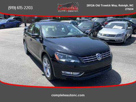2013 Volkswagen Passat for sale at Complete Auto Center , Inc in Raleigh NC