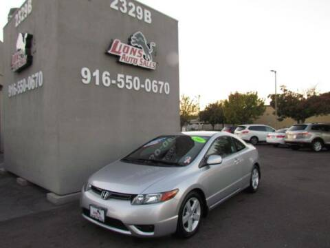 2008 Honda Civic for sale at LIONS AUTO SALES in Sacramento CA
