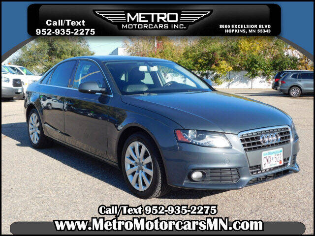 2011 Audi A4 for sale at Metro Motorcars Inc in Hopkins MN