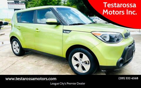 2016 Kia Soul for sale at Testarossa Motors Inc. in League City TX
