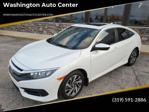 2018 Honda Civic for sale at Washington Auto Center in Washington IA