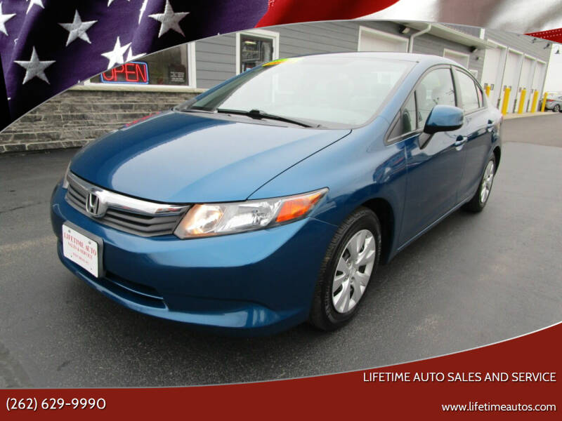 2012 Honda Civic for sale at Lifetime Auto Sales and Service in West Bend WI
