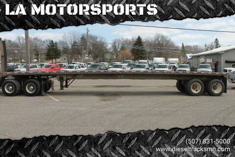 1987 East 50 foot flatbed for sale at LA MOTORSPORTS in Windom MN