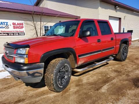 2004 Chevrolet Silverado 1500 for sale at Hollatz Auto Sales in Parkers Prairie MN