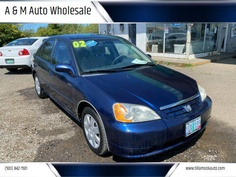 2002 Honda Civic for sale at A & M Auto Wholesale in Tillamook OR
