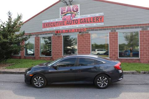 2016 Honda Civic for sale at EXECUTIVE AUTO GALLERY INC in Walnutport PA