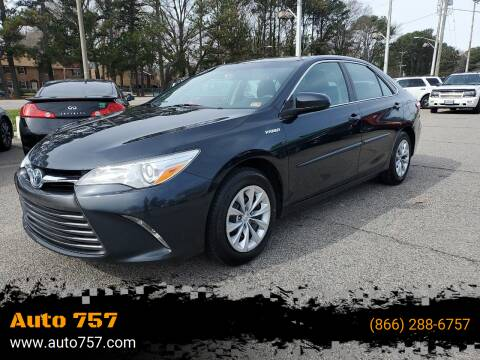 2015 Toyota Camry Hybrid for sale at Auto 757 in Norfolk VA