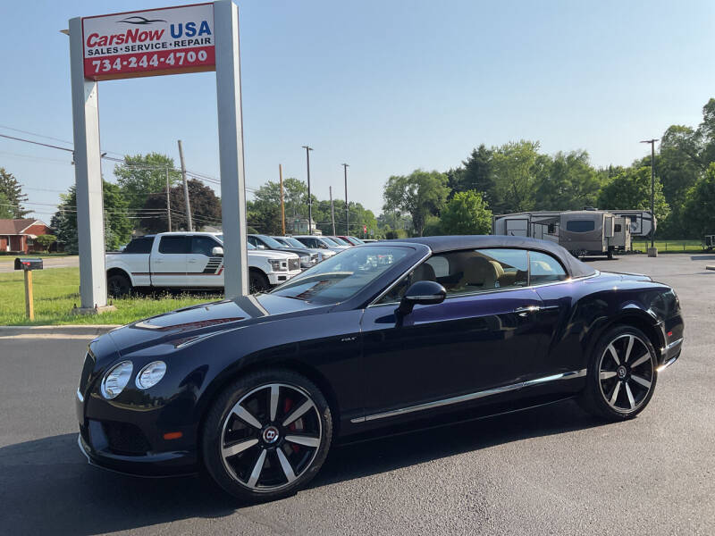 2015 Bentley Continental for sale at A 1 Motors in Monroe MI