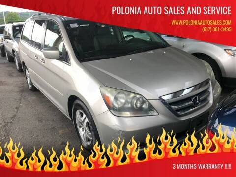 2006 Honda Odyssey for sale at Polonia Auto Sales and Service in Hyde Park MA