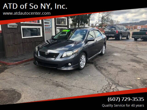 2009 Toyota Corolla for sale at ATD of So NY, Inc. in Johnson City NY