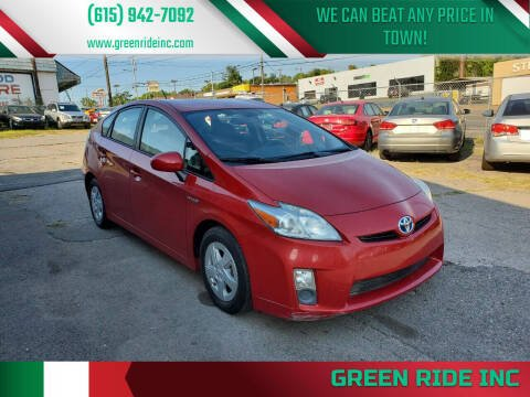 2010 Toyota Prius for sale at Green Ride Inc in Nashville TN