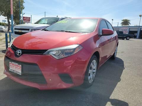 2014 Toyota Corolla for sale at Primo Auto Sales in Merced CA