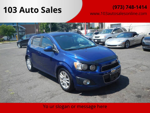 2013 Chevrolet Sonic for sale at 103 Auto Sales in Bloomfield NJ