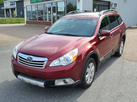 2012 Subaru Outback for sale at Green Cars Vermont in Montpelier VT