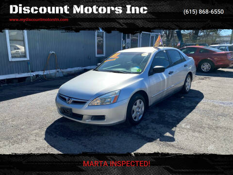 2007 Honda Accord for sale at Discount Motors Inc in Madison TN